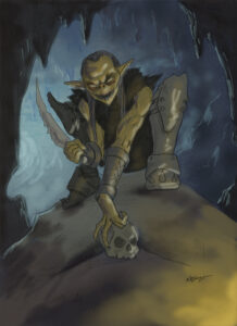 Goblin work in process painting